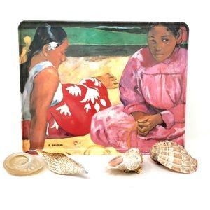 Gauguin Tahiti Vintage Tray & Coasters Mabel Italy